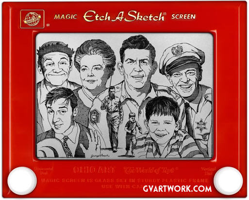 Etch A Sketch The Andy Griffith Show characters