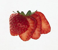 strawberry fan garnish