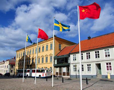 Himmelska fridens torg i Kalmar.
