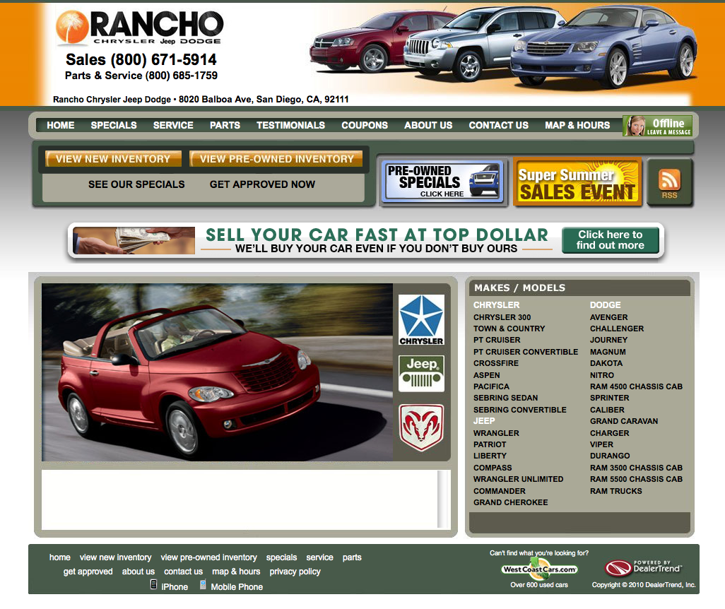 used cars for sale rancho chrysler jeep dodge used car event. Cars Review. Best American Auto & Cars Review