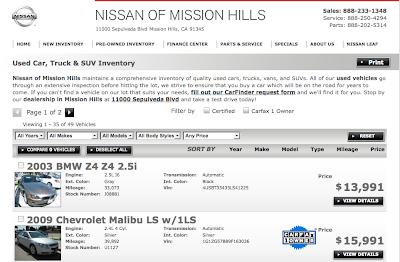 Nissan Of Mission Hills Slasher Sale