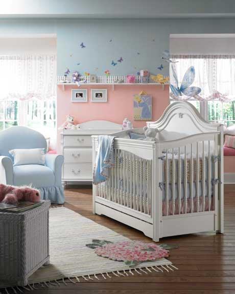 Habitacion celeste con mariposas la habitacion del bebe - Color paredes habitacion bebe ...