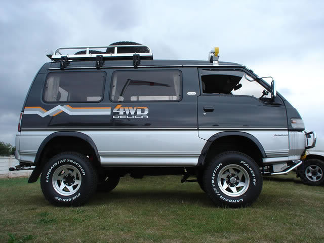 Mitsubishi 4X4 Van http://taiwanincycles.blogspot.com/2010/05/death-on-wheels-cycling-guide-to.html
