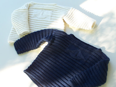 *Knit a ribbed baby jacket with a Prima pattern on All