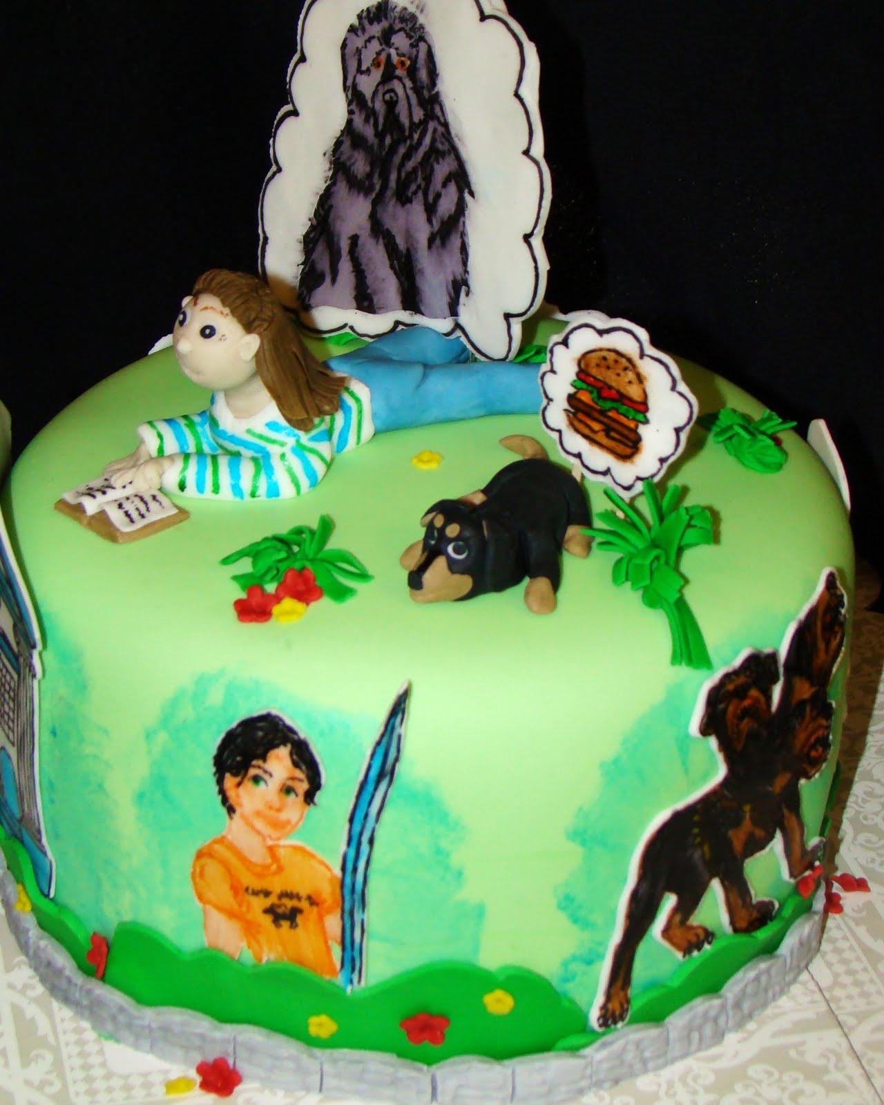 Layers Of Love Percy Jackson Lightening Thief Cake