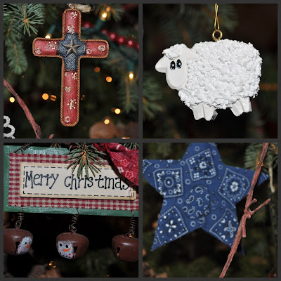 my mom made the sheep ornament