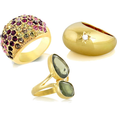 Trendy Fashion Rings on Trendy Fashion 2011  Golden Rings For Women
