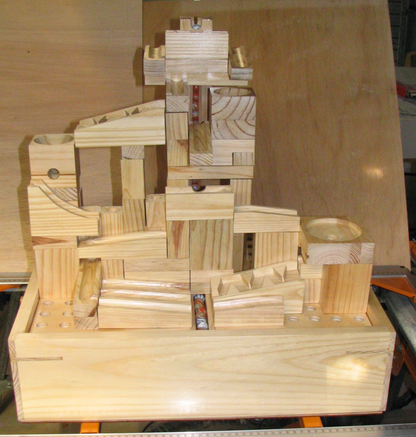 Some pics of a marble machine built by me to plans by matthias wandel