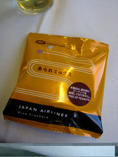 JAL business class rice crackers