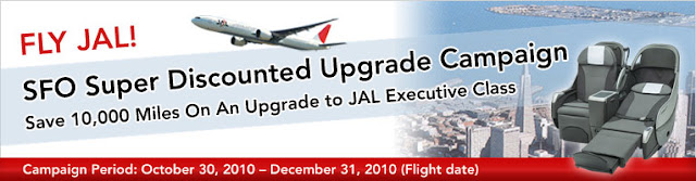 FLY JAL! SFO Super Discounted Upgrade Campaign