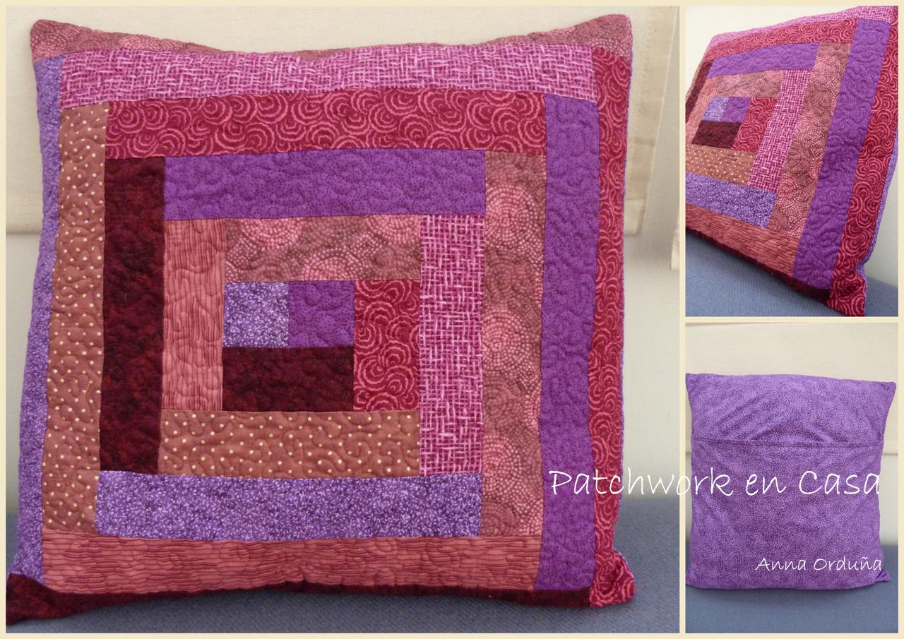 Patchwork en casa patchwork with love tutorial coj n log cabin sin plantilla - Como hacer pachwork ...