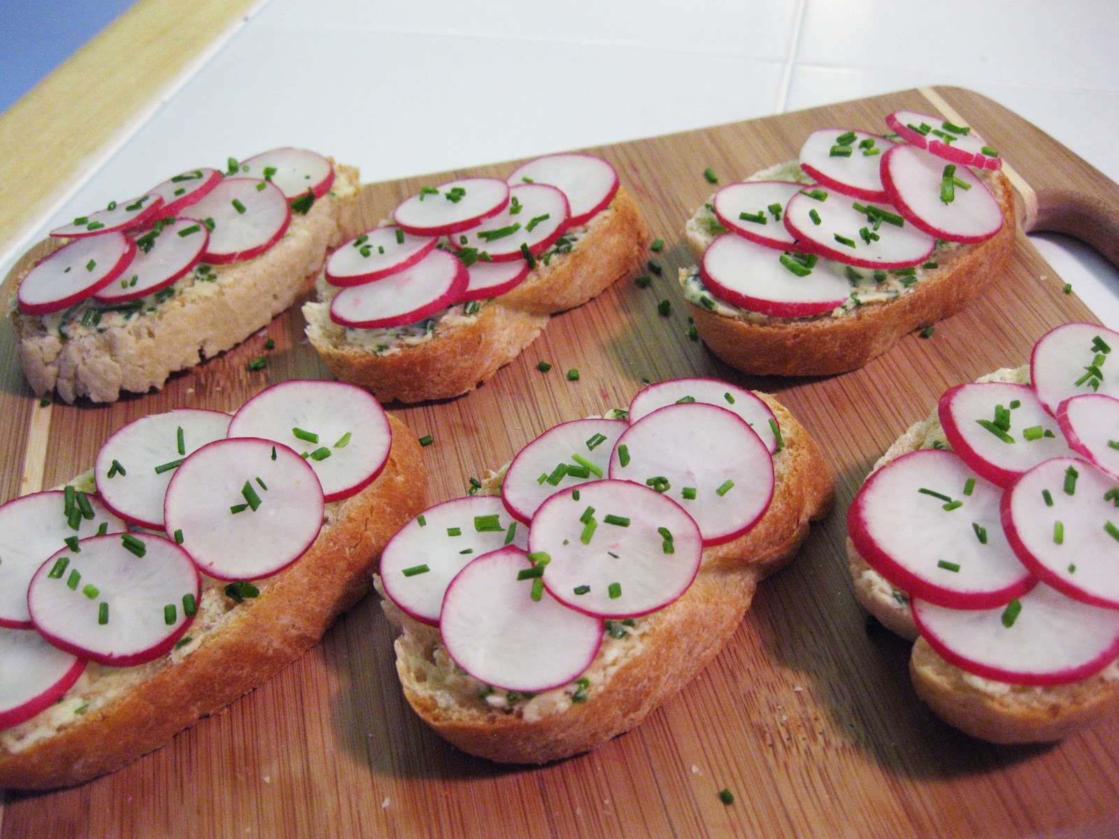 Bloatal Recall: Radish-Chive Tea Sandwiches with Sesame and Ginger