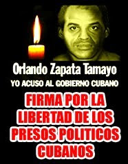 Firmas por la libertad de los presos politicos cubanos