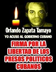 Firmas para la libertad de los presos politicos cubanos