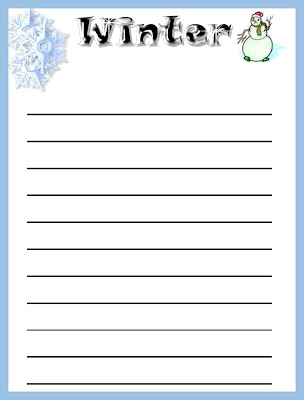 Winter Writing Paper Printable | New Calendar Template Site