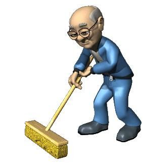 Janitor on Road