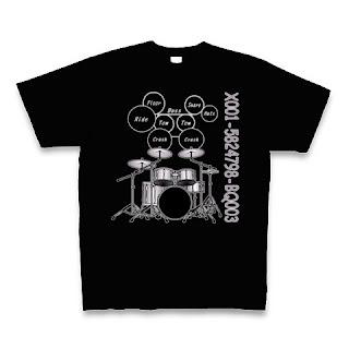 ドラム・ミュージシャン・ライブ・コンサート・Tシャツ・グッズ