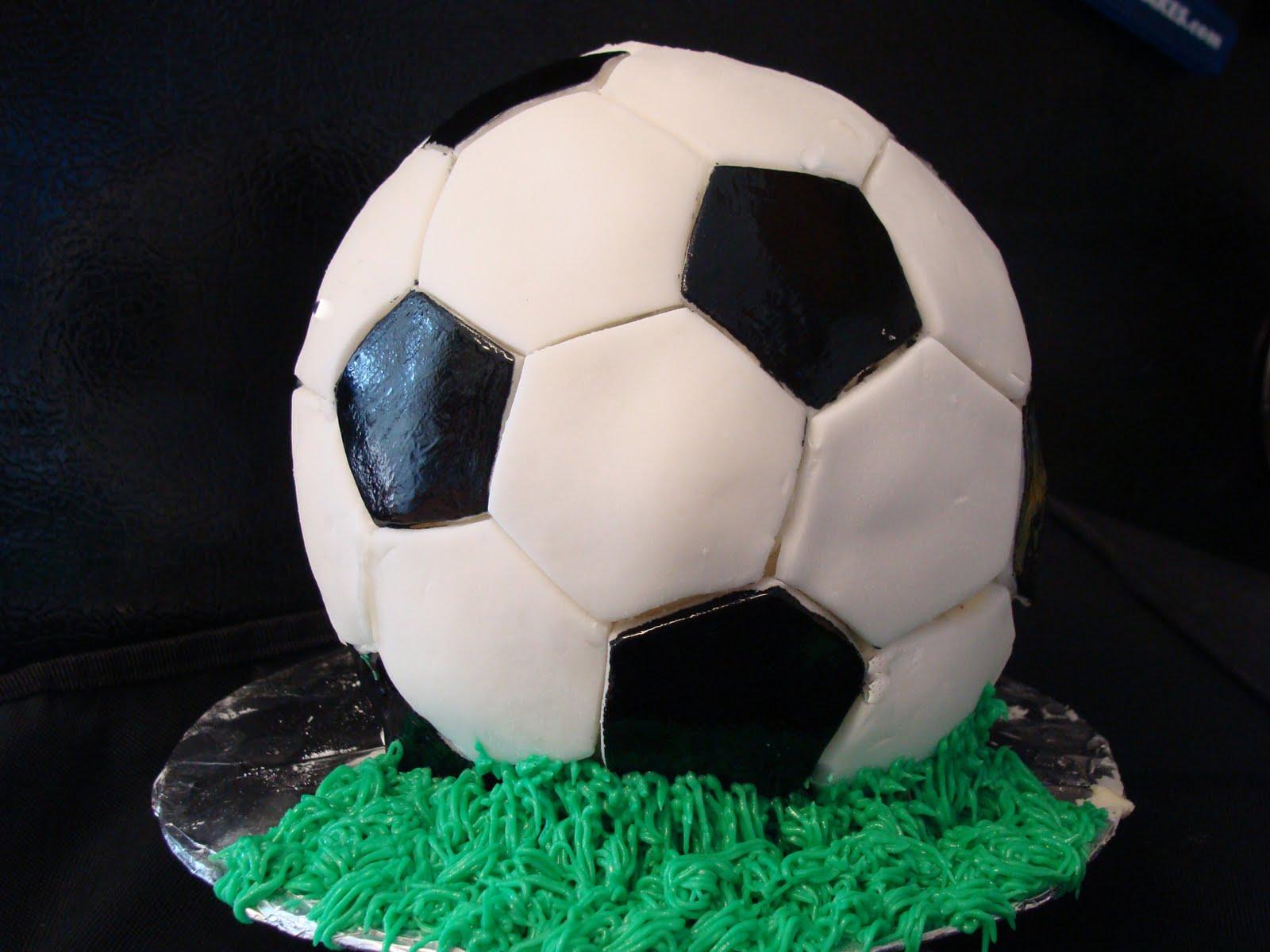 Soccer Ball Cake Images : Tummy Temptations: Soccer Ball Cake - Part 2
