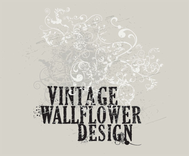 Vintage Wallflower Design