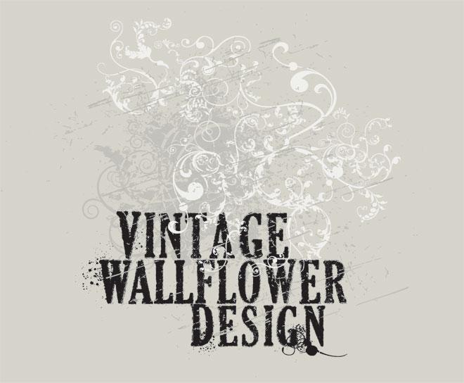 Vintage Wallflower Design