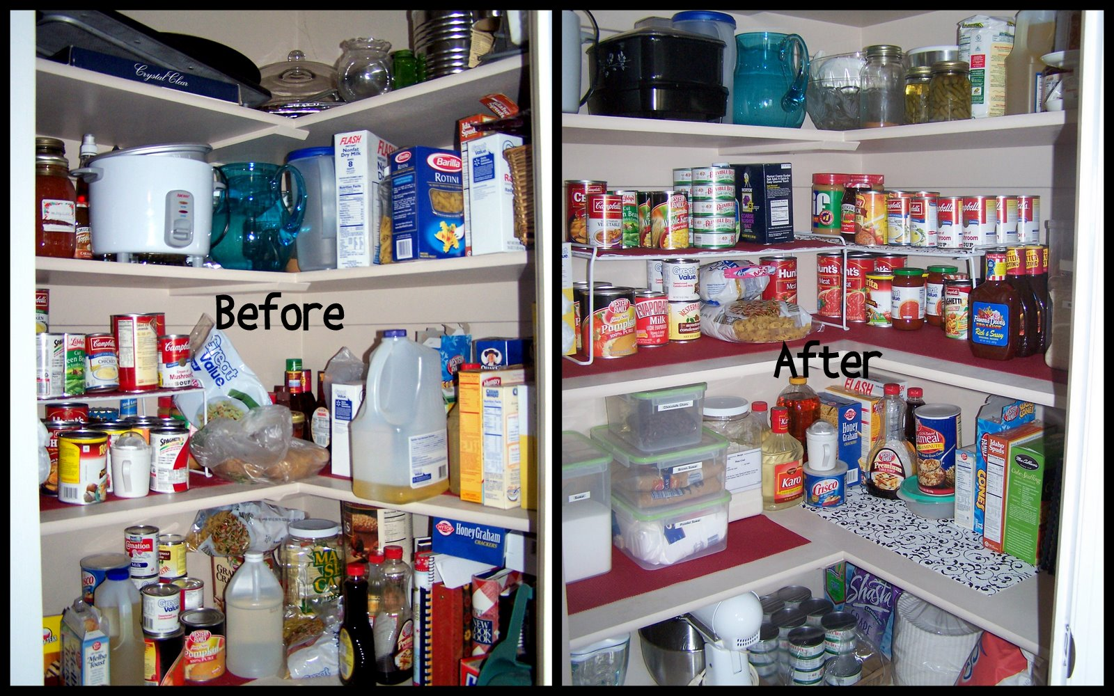 Below are just a few items that were taking up space in my pantry. My
