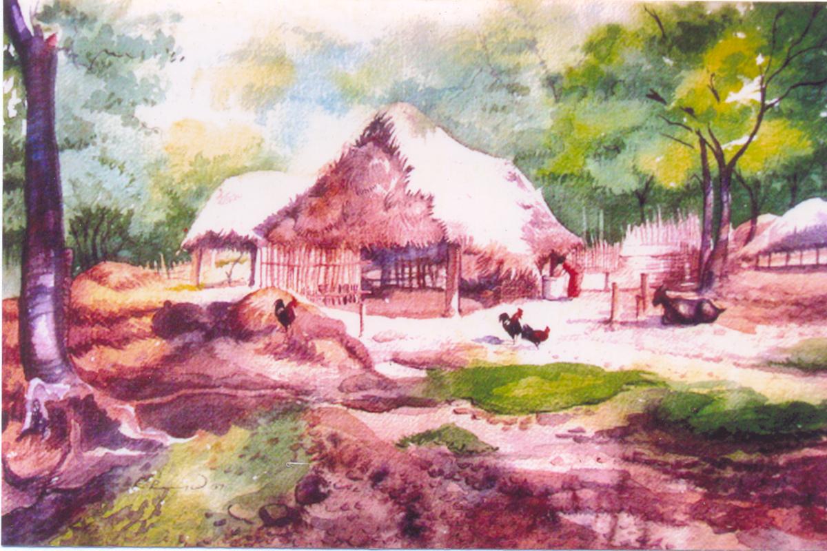 Artist Ragu: Watercolor painting