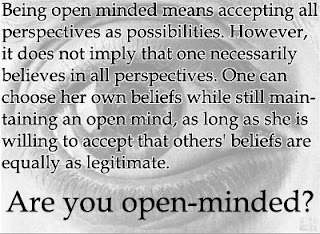 Definition of open minded