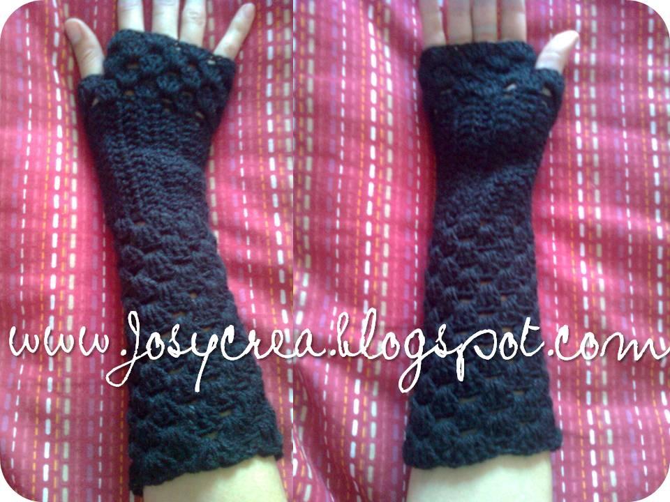 ✿JosyCrea✿.。.:* Tejido a Crochet y Más!: Mitones sin dedos ...