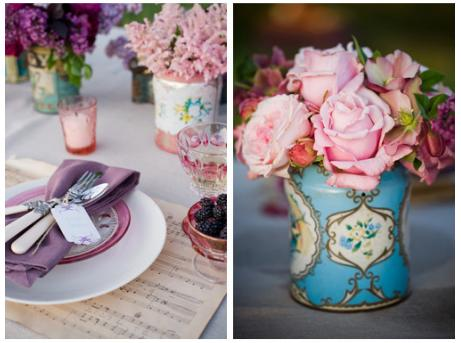 Spring Wedding Inspiration Wildberries Violets and Vintage
