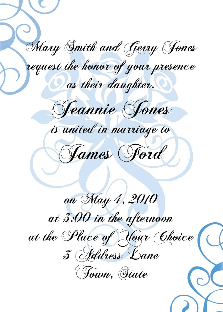 Invitation Templates   Formal  Formal Invitations Template