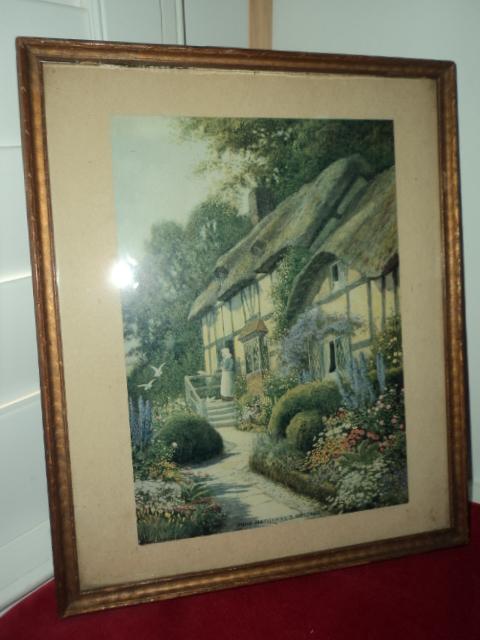 Vintage English COTTAGE Garden Print 1st Giveaway