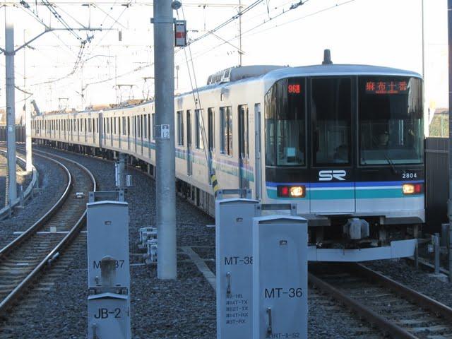 東京メトロ南北線 麻布十番行き2 埼玉高速鉄道2000系(平日1本運行)