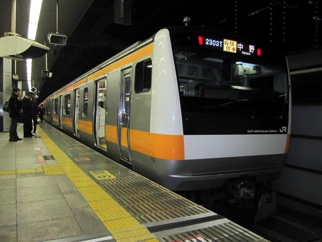 中央線各駅停車 中野行き E231系(平日1本運行)