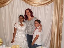 Ela foi minha moça, hoje é minha 1ª Conselheira, o menorzinho é meu filho Gabriel.