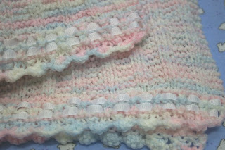 Ribbon Edged Preemie Baby Blanket Free Knitting Pattern ...