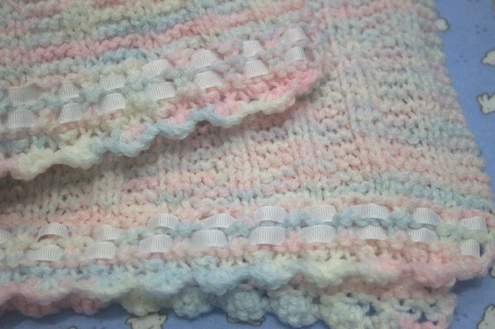 Crafting For Charity Ribbon Edged Preemie Blanket