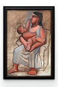 Picasso Painting in a Museum: Mother and Child