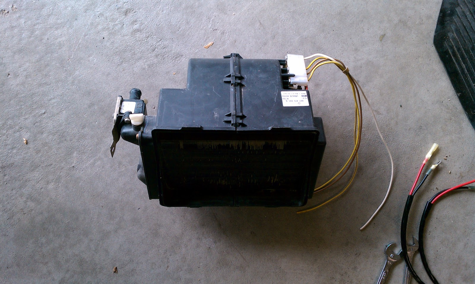 1979 Vw Westfalia Campmobile Deluxe A C Cooler And Rear Heater Wiring Harness