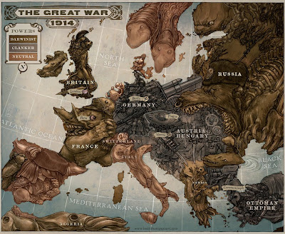 map of europe 1914 alliances. World war I map of Europe