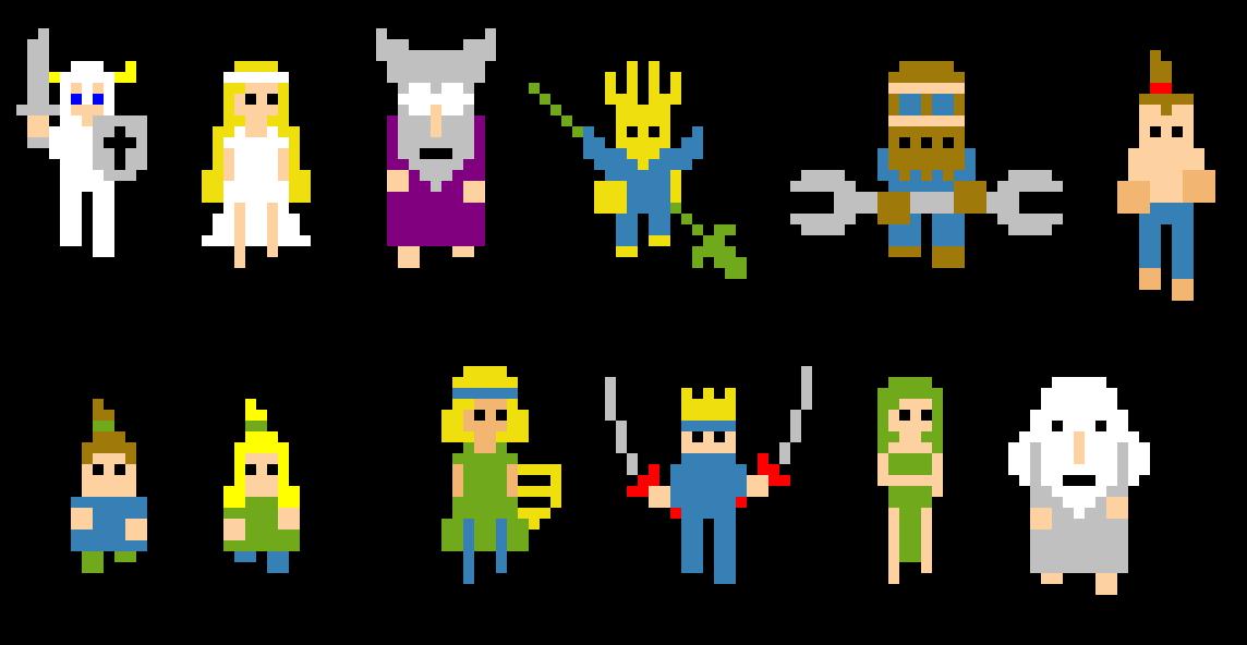 4 bit pixel art
