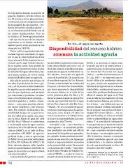 Dsiponibilidad del Recurso Hidrico Amenaza Actividad Agraria