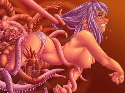 White and Free tenticle monster hentai Culote tan