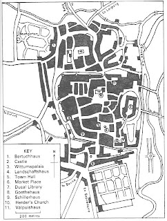 Plan of Weimar showing main places mentioned