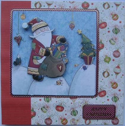 Both cards are 6 x 6 inches the snowman card has also been