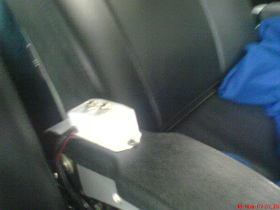 Raj National express bus inside view of a seat