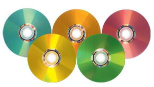 Verbatim multi coloured lightscribe DVDs