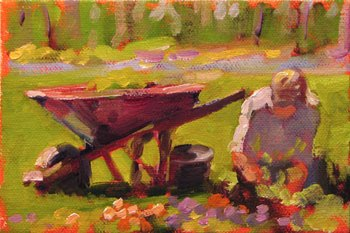 Spring Planting Oil Painting by S Filarsky