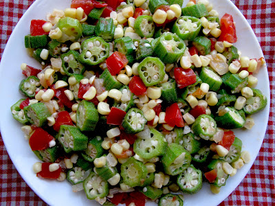 Sauteed Okra With Corn and Tomatoes