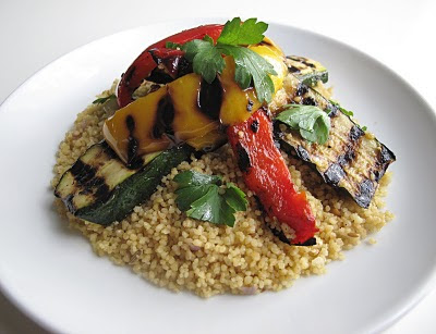 Marinated+and+Grilled+Veg+with+Couscous.JPG Marinated Grilled Vegetables with Spiced Couscous and Lemon Yogurt Sauce