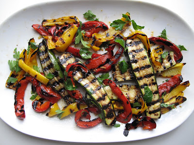 Marinated Grilled Vegetables with Spiced Couscous and Lemon Yogurt Sauce
